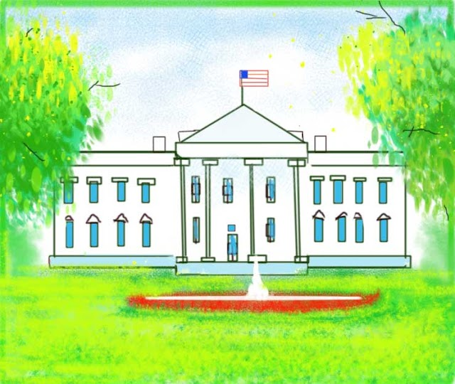 The Simple White House Drawing Easy Step By Step Outline Drawing