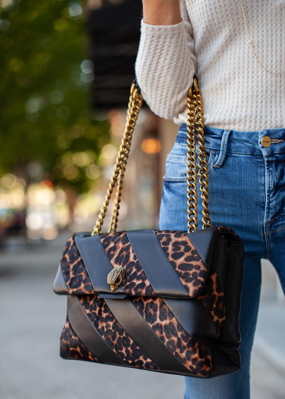 nordstrom kurt geiger soho leather genuine calf hair shoulder bag