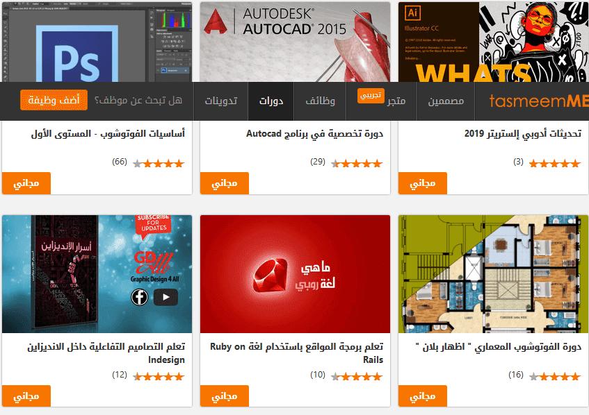 مواقع تقدملك دورات مجاناً مقاطع فيديو تعليميه لأي مجال ترغب بتعلمه من الصفر