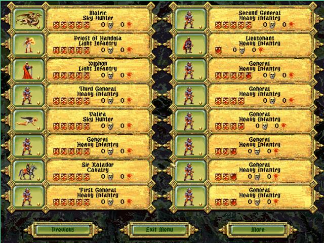 Units Overview | Fantasy General Screenshot