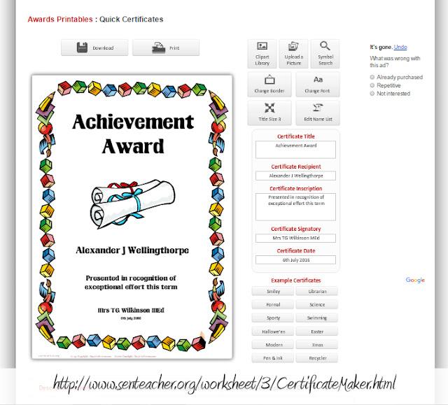 Strona internetowa do robienia dyplomów