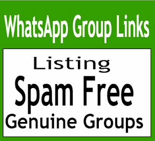 Spam free whatsapp group invite links