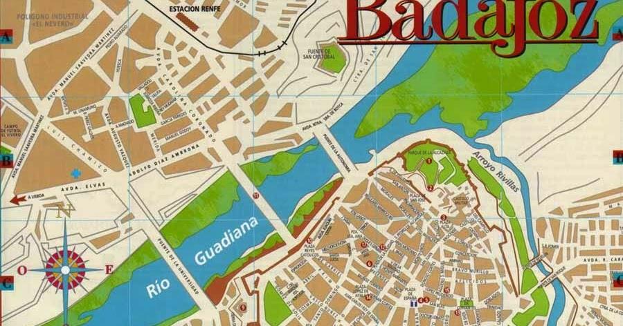 Mapa De Badajoz Capital.El Blog De Mi Clase Mapas Y Planos