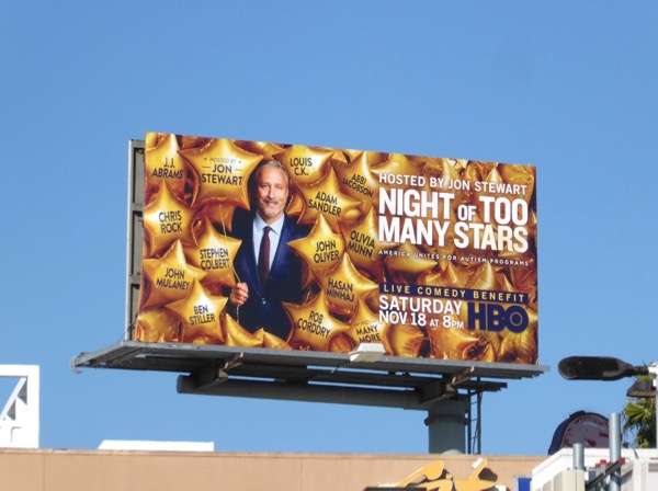 Night of Too Many Stars HBO billboard
