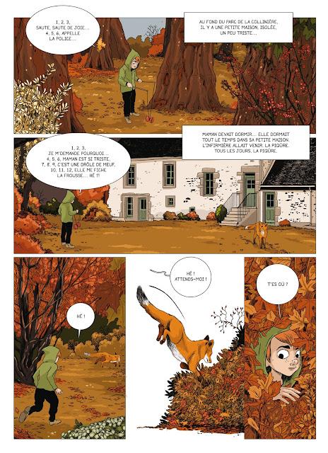 Sombres citrouilles de Malika Ferdjoukh et Nicolas Pitz aux éditions Rue de Sèvres page 13