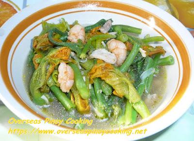 Ginisang Bulaklak ng Kalabasa Recipe