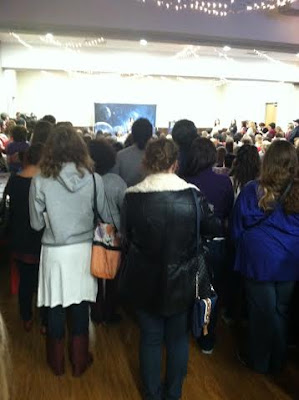 Crowd at Irving Public Library to see Marissa Meyer. Photo taken by Amber, the Blonde Writer