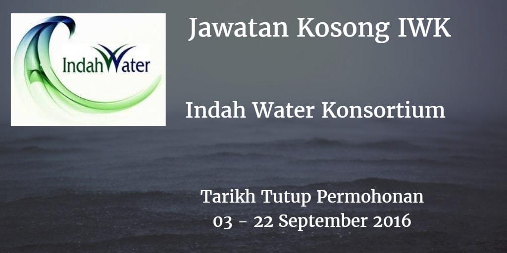 Jawatan Kosong IWK 03 - 22 September 2016