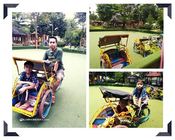 Becak Mini di Taman Herbal Insani, Depok