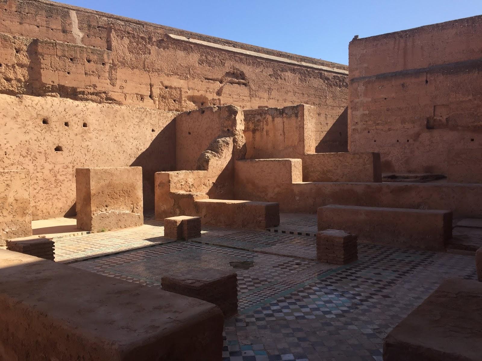 ruines du palais badii à marrakech