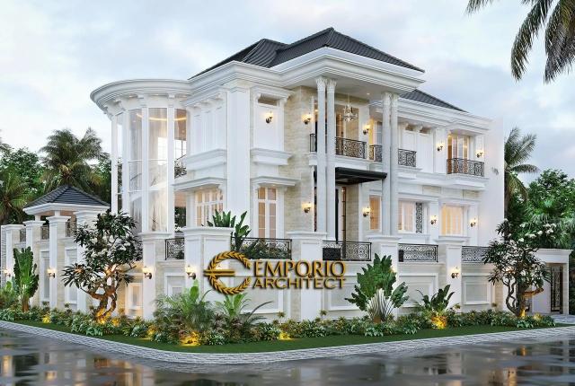 Desain Rumah Classic 2.5 Lantai