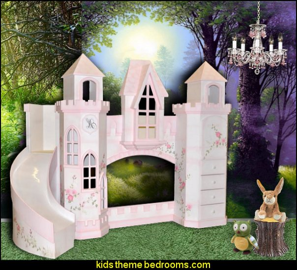 Polton Castle Bunk Bed-castle theme beds  woodland forest castle theme bedrooms woodland animals fairy forest