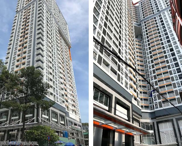 Hình chụp công trình đã hoàn thiện chung cư cao tầng Nguyễn Kim khu b