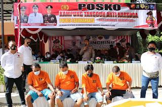 Kapolres Labuhanbatu Hadiri Launching Kampung Tangguh Anti Narkoba di Kotapinang