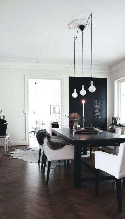 black and white minimalist interior design