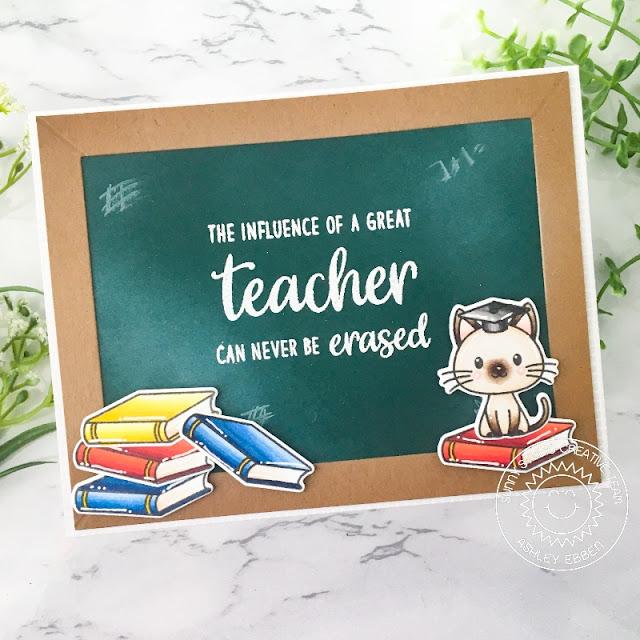 Sunny Studio Stamps: Teacher Appreciation Grad Cat Teacher Card by Ashley Ebben
