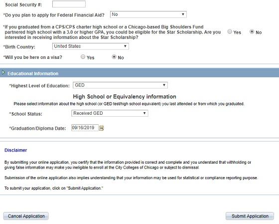 تتمة ملء البيانات للحصول على edu email