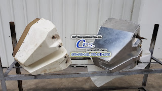 Example custom made aluminium fuel tank argon weld