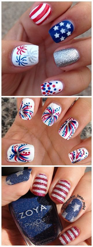 Patriotic 4th of July Nail Ideas