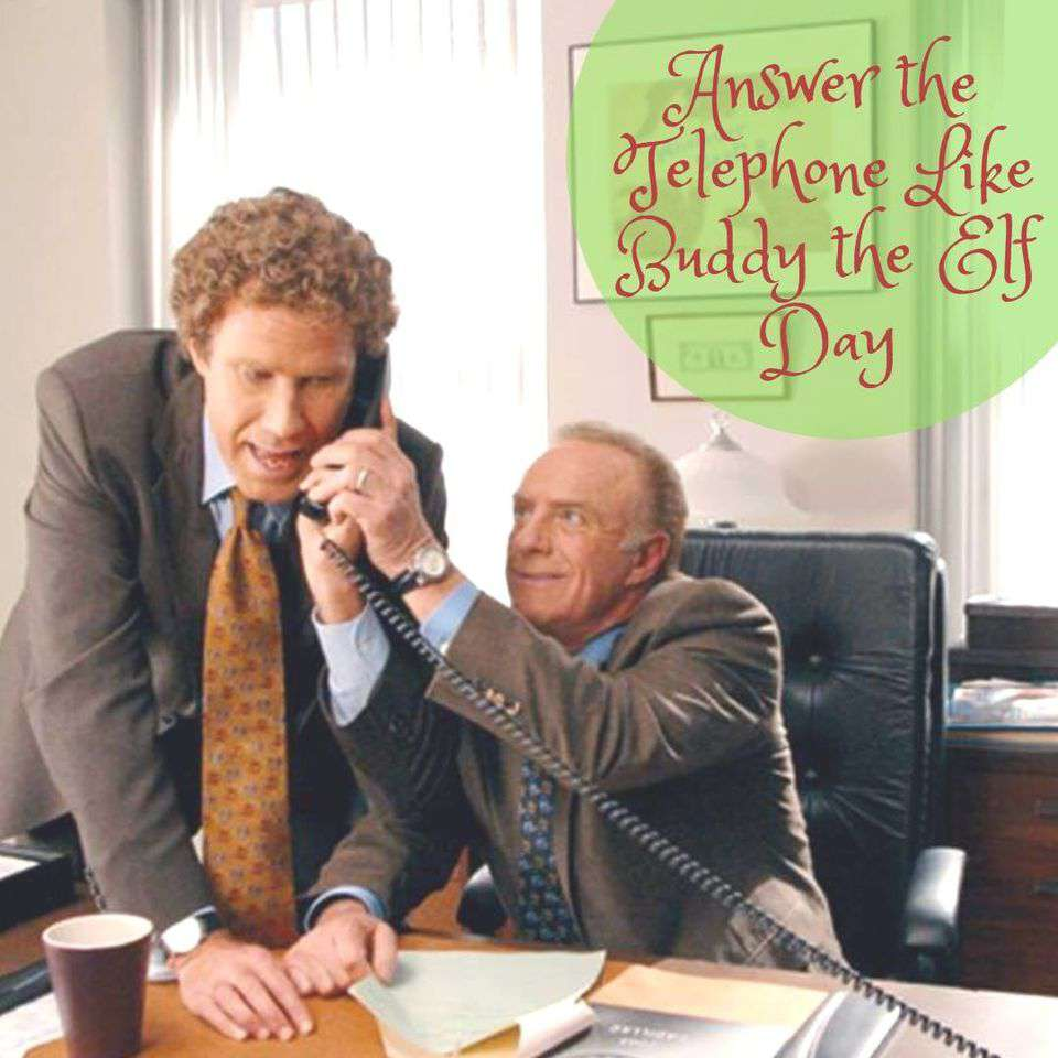 Answer The Telephone Like Buddy The Elf Day Wishes Images download