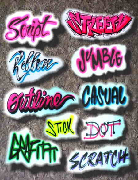 Lettering Styles Names