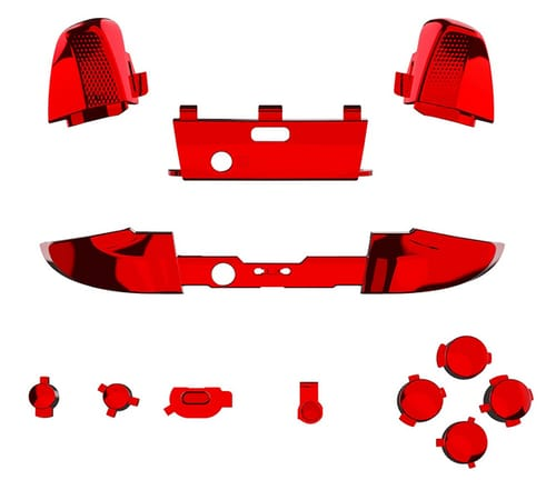 eXtremeRate Chrome Red Replacement Buttons for Xbox One
