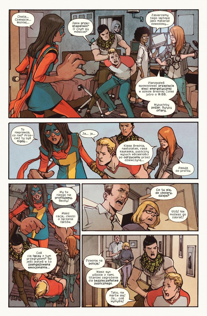 Ms Marvel tom 6 przykładowa strona