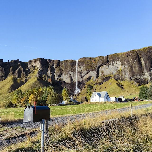 Islandia, droga, wodospad