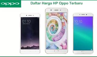 Daftar Harga HP Oppo Terbaru
