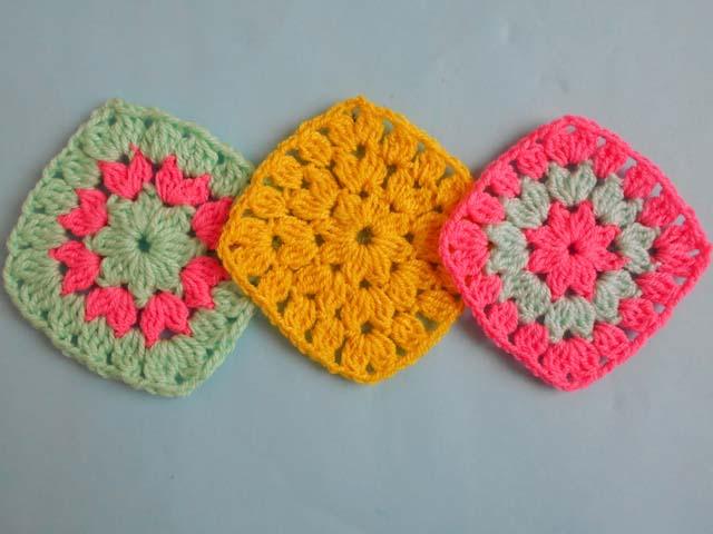 Crochet Crosia Free Patttern With Video Tutorials Flower Square