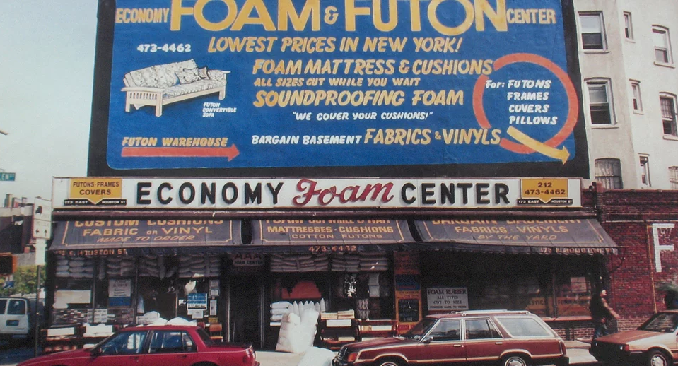 Economy Foam Futon Was A Lower East Side Fixture Anchoring The Corner Of Houston And Allen From 1937 To 2003 Maybe You Bought There