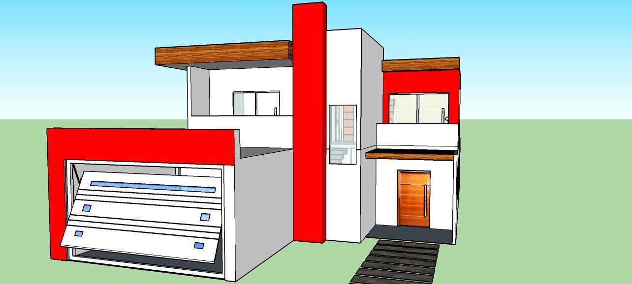 Casa moderna projetada no sketchup tudo pela arquitetura for Casa moderna sketchup download