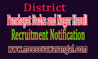 District Panchayat Dadra and Nagar Haveli Recruitment Notification