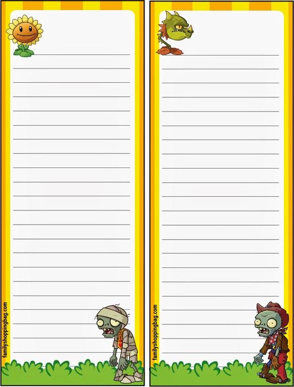 Plants vs Zombies Free Printable Invitations.
