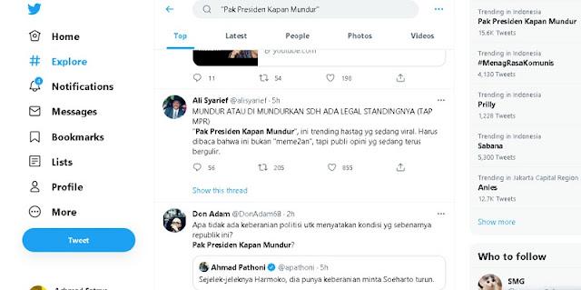 RR Hingga Don Adam Respon Hastag Pak Presiden Kapan Mundur (PPKM) Di Twitter, Ada Apa?
