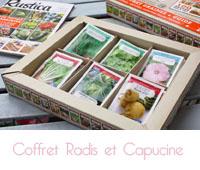 Coffret 52 sachets de graines Rustica  de Radis et capucine
