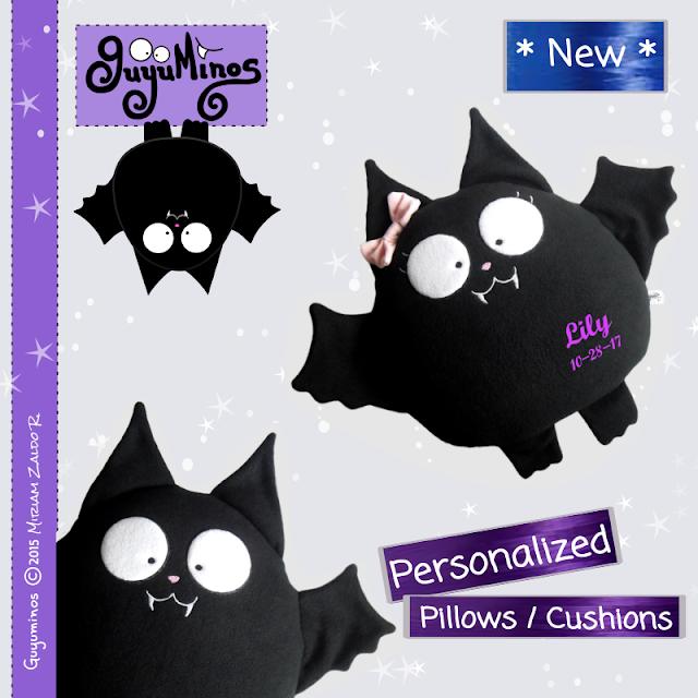 Nuevos cojines de vampiros personalizados perfectos para halloween, guyuminos