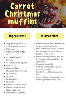 christmas carrot muffin recipe