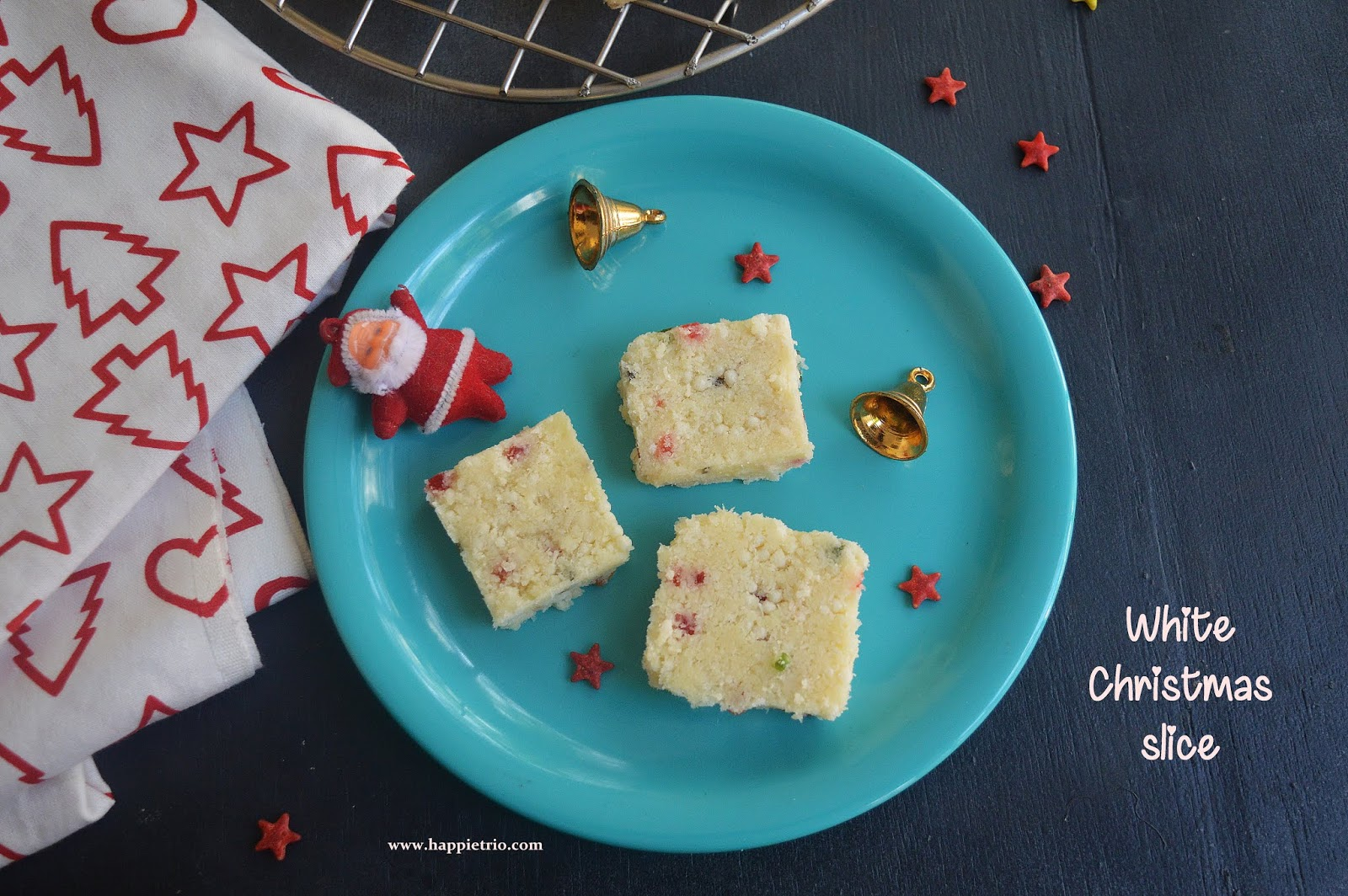 White Christmas Slice Recipe | Easy Christmas Slice
