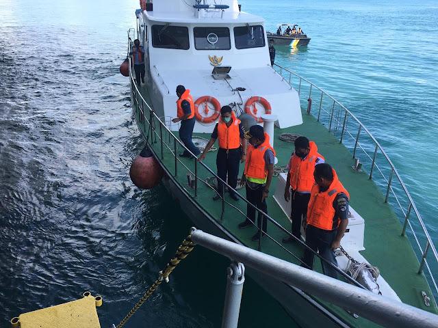 KSOP Tanjung BalaI Karimun Lakukan Pemeriksaan Awal Kandasnya MV. Sharaz dan KM. Samudera Sakti