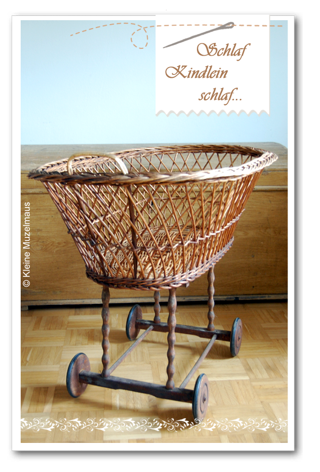 kleine muzelmaus stubenwagen mit selbstgen htem polster. Black Bedroom Furniture Sets. Home Design Ideas