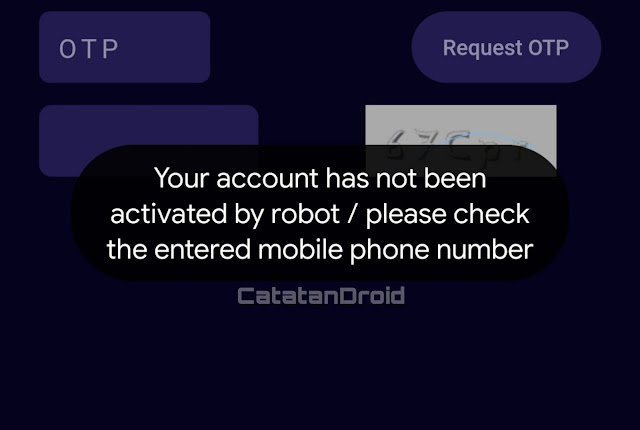 maksud Your Account has not been Activated By Robot