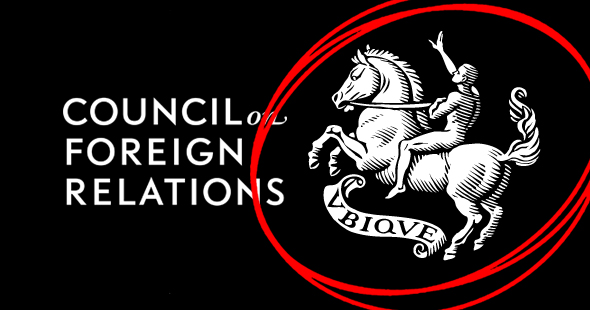 logotipo del consejo de relaciones exteriores con el caballo blanco
