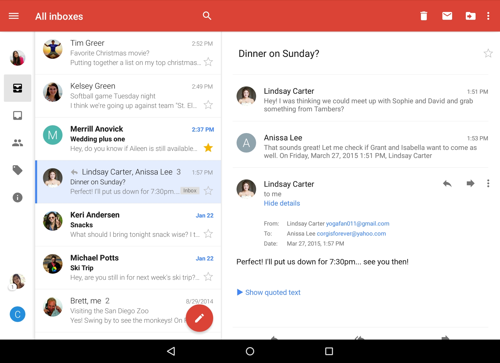 Official gmail blog all your mail together in one place search is the cornerstone of google and of gmail the new gmail app for android has better auto complete so you can find what you need even faster stopboris Images