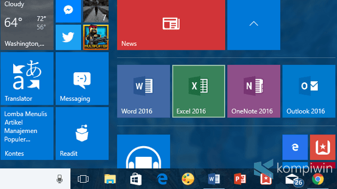 cara buat folder tiles di start menu windows 10