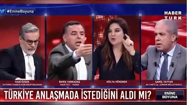 Barış Yarkadaş ve Şamil Tayyar canlı yayında sert tartışması.