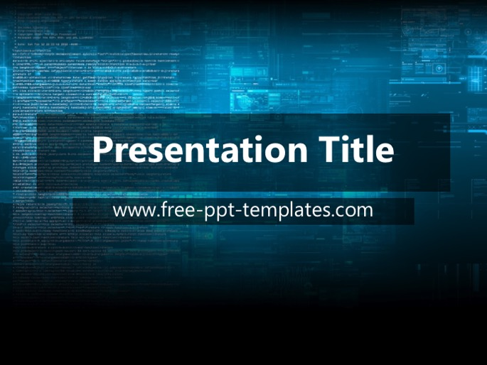 technology ppt template
