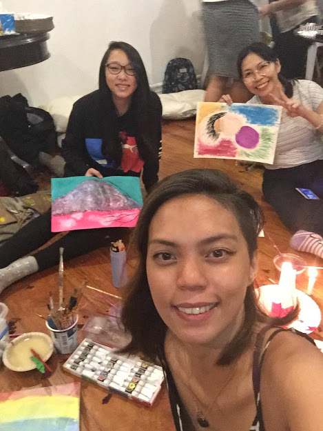 Group picture with Maya after we finished our paintings.