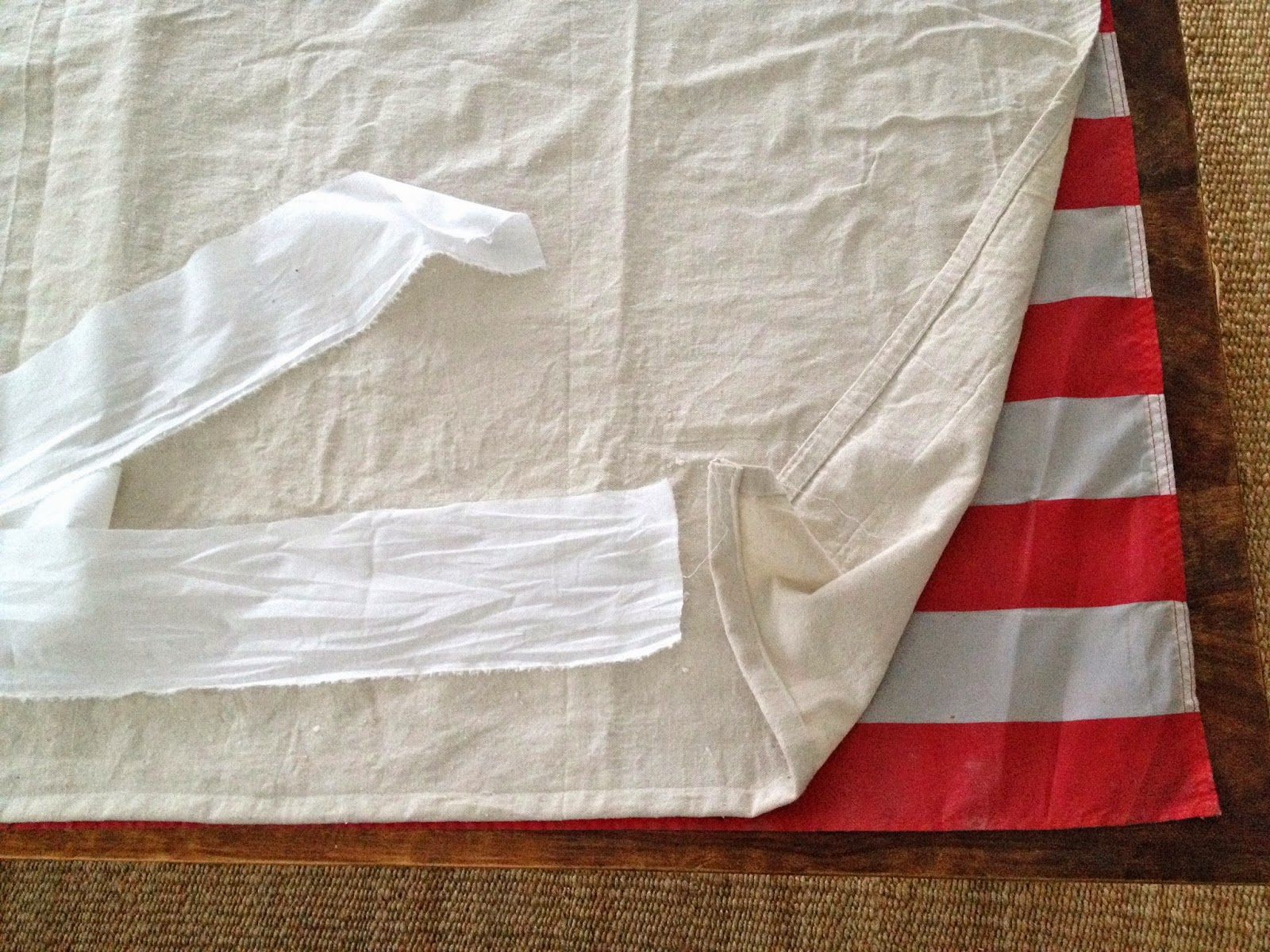 measure drop cloth to flag