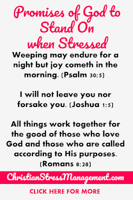 Promises of God to stand on when stressed